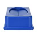 """Alpine ALP478-2-BLU Blue 20""""W x 12""""D x 5""""H Drop Shot Trash Can Lid"""
