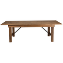 "Flash Furniture XA-F-96X40-GG 96"" W x 40"" D x 30"" H 7/8"" Thick Plywood Hercules Series Folding Rustic Farm Table"