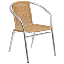 """Flash Furniture TLH-020-BGE-GG 21.75"""" W x 29"""" H x 22"""" D 352 Lb. Weight Capacity  Beige Restaurant Stacking Armchair"""