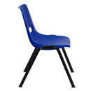 """Flash Furniture RUT-EO1-BL-GG 21"""" W x 32.13"""" H Blue Plastic Seat And Back With Black Powder Coated Metal Frame Hercules Series Ergonomic Shell Stacking Chair"""