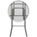 """Flash Furniture DAD-YCZ-80R-2-BAR-GW-GG Round 31 1/4"""" Dia. x 43 3/4"""" H Waterproof Folding Table"""