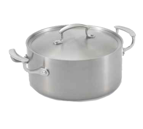 "Vollrath 49411 9-1/2"" Dia. Stainless Steel / Aluminum Miramar™ Display Cookware Casserole"