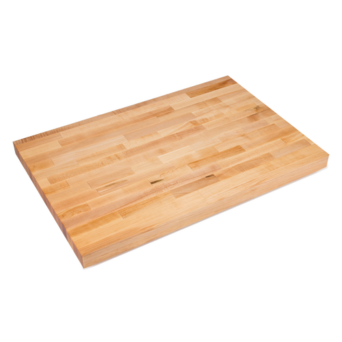 "John Boos BKSC04O 108""W x 36""D x 2-1/4"" thick Wood Work Table Top"