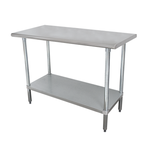 """Advance Tabco SLAG-183-X 36""""W x 18""""D Stainless Steel Work Table with Stainless Steel Undershelf and Legs"""
