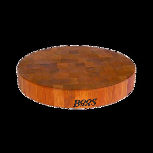 "John Boos CHY-CCB183-R 18"" dia. x 3"" Boos Block Cream Finish with Beeswax Chinese Chopping Block"