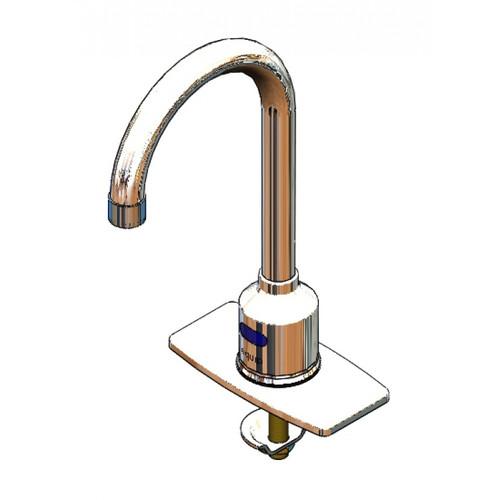 """T&S Brass 5EF-1D-DG-4DP 11-15/16"""" Deck Mount Equip Electronic Faucet"""