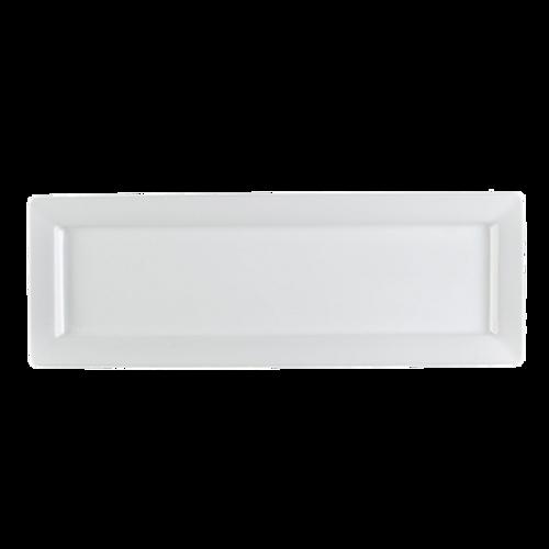 CAC China PNS-461  Porcelain  Super White  Rectangular  PrinceSquare Platter