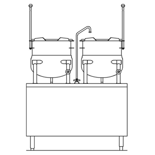 Crown DMT-10-10 10 Gallon Direct Steam Kettle/Cabinet Assembly