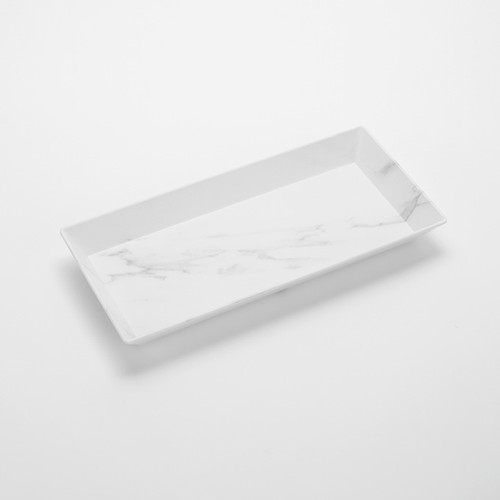 American Metalcraft MWMEL21  Plastic  White  Rectangular  Platter