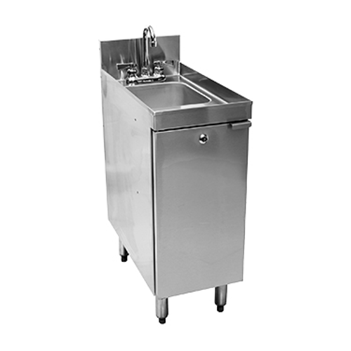"Glastender C-SC-12 Stainless Steel CHOICE Sink Cabinet - 12""W x 24""D"