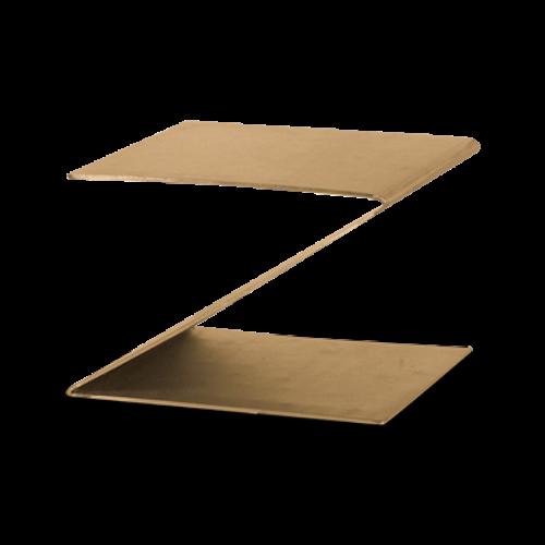 "Eastern Tabletop 1201RZ 10""W x 10""D x 6""H Bronze Stainless Steel Design Riser"