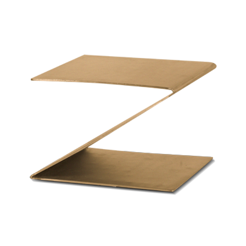 "Eastern Tabletop 1201RZ 10""W x 10""D x 6""H Bronze Stainless Steel Design Riser"