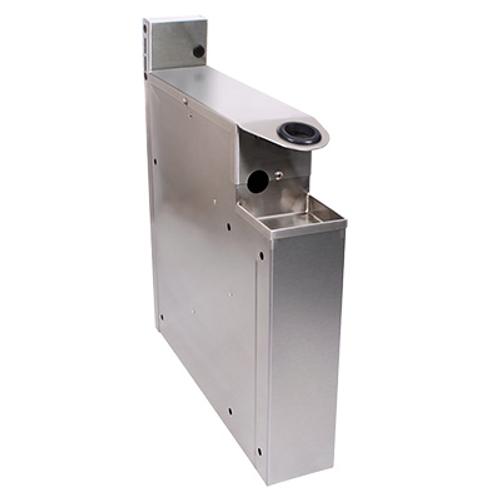"Glastender SHA-4-ED Stainless Steel Extra Deep Underbar Soda Gun Holder - 4""W x 19""D x 25""H"