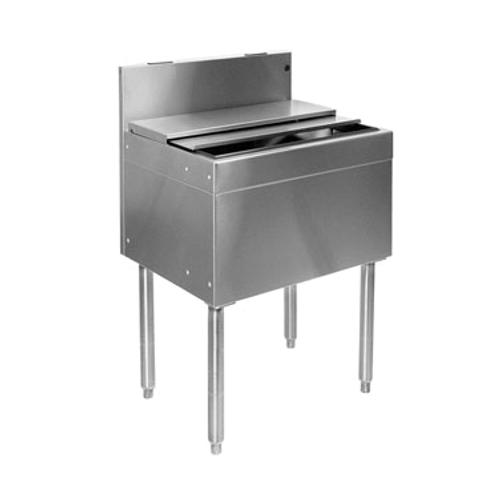 """Glastender IBB-30-CP10 Stainless Steel Underbar Ice Bin - 30""""W x 24""""D"""