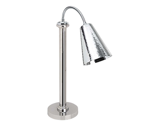 Eastern Tabletop 9691 Stainless Steel Lamp Warmer with 1 Bulb - 120 Volts, 250 Watts