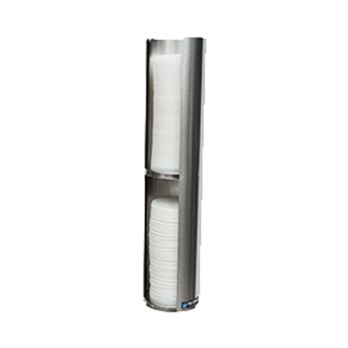 """San Jamar L3502 23-1/2"""" Double Lid Dispenser"""
