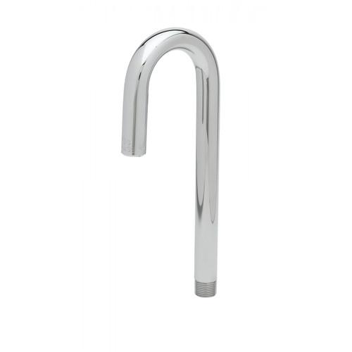 """T&S Brass 119XP Nozzle rigid 8"""" H 2-5/8"""" spread gooseneck plain end outlet"""