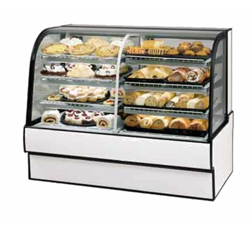 """Federal Industries CGR5042DZ 50.13""""W   Vertical Dual Zone Bakery Case Refrigerated Left Non-Refrigerated Right"""
