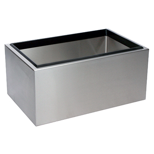 "Glastender IB-14X22, Stainless Steel, Portable Ice Bin, 22""W x 14""D x 10""H"