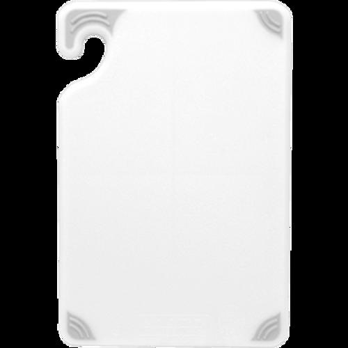 "San Jamar CBG152012WH 15"" x 20"" x 1/2"" White Co-Polymer Saf-T-Grip® Cutting Board"