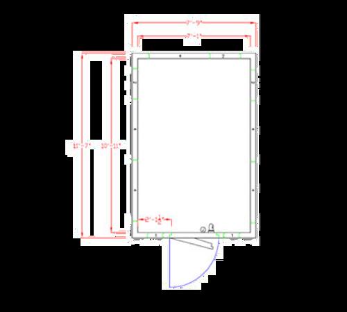 "American Panel 8X12C-O 87.75""H x 93""W x 139""D Outdoor Walk-In Cooler"