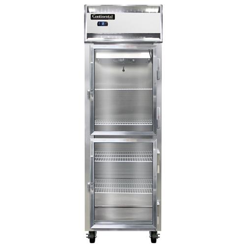 "Continental Refrigerator 1FSNSSGDHD 26"" W One-Section Glass Door Freezer"