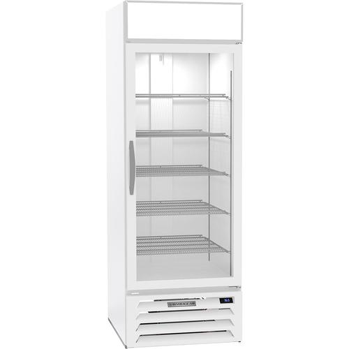 """Beverage Air MMR23HC-1-W 27"""" W One-Section Glass Door MarketMax Refrigerated Merchandiser"""