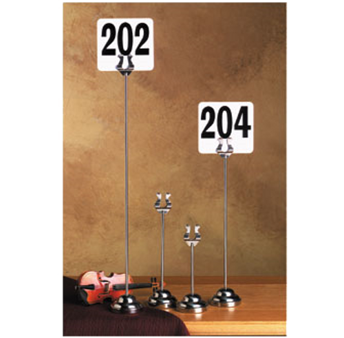 """American Metalcraft HPCH12 12""""H Stainless Steel Number Stand"""
