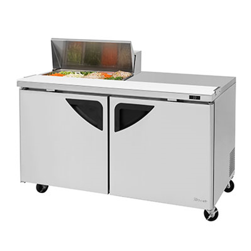 """Turbo Air TST-60SD-08S-N 60.38"""" W Two-Section Two Door Super Deluxe Sandwich/Salad Unit"""