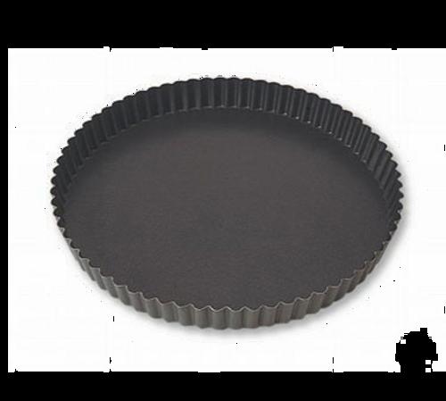 "Matfer Bourgeat  332216  10.25"" x 1""  Round  Steel  Exopan Tart Mold"