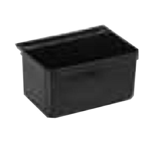 "Winco UC-SB 13""W Black Plastic Silverware Bin"