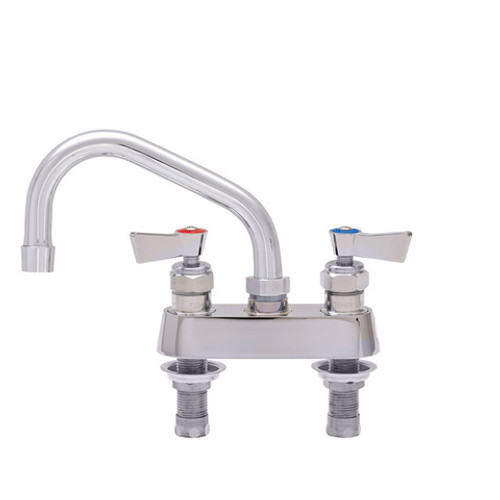 """Fisher 53740 4"""" Centers 6"""" Swing Spout Deck Mount Lever Handles Stainless Steel Faucet"""