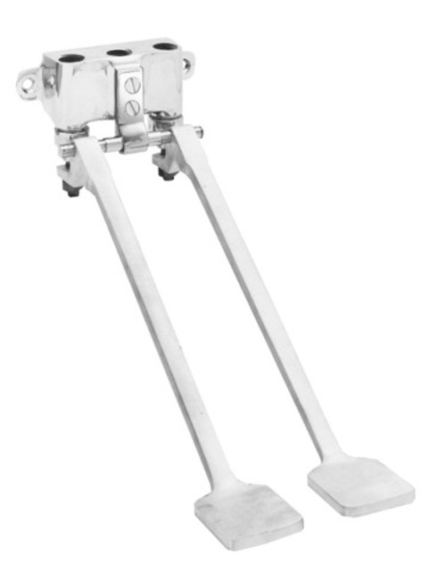 Fisher 3176 Wall Mount Double Pedal Polished Chrome Control Valve