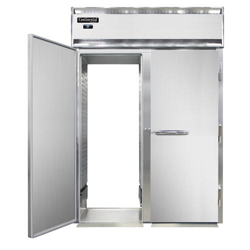 "Continental Refrigerator DL2RI-SA-RT-E 68.5"" W Two-Section Solid Door Roll-Thru Designer Line Extra-High Refrigerator"
