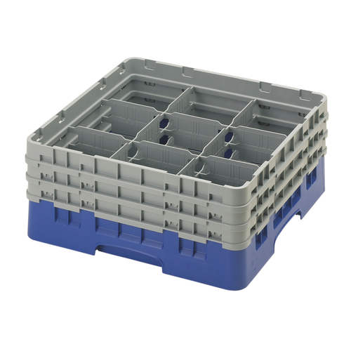 Cambro 9S638186 Camrack Glass Rack With (3) Soft Gray Extenders
