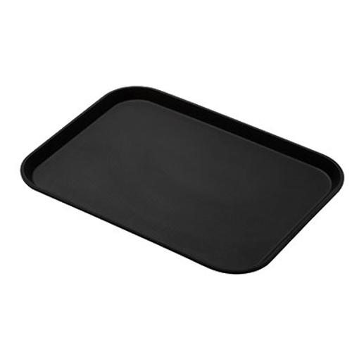 """Cambro 1216CT110 12"""" Black Camtread® Serving Tray"""