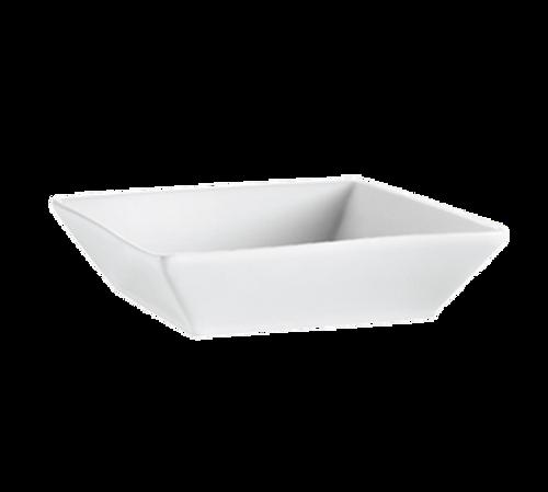 CAC China KSE-B8  42 oz  Porcelain  Super White  Square  KingSquare Bowl