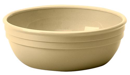 "Cambro 100CW133  5""  12-1/2 oz  PolyCarbonate  Beige  Round  Camwear Nappie Bowl"