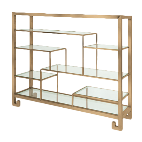 """Eastern Tabletop ST1765RZ 39-3/4""""W x 9-7/8""""D x 31-1/2""""H Bronze 18/10 Stainless Steel Tabletop Display Stand"""