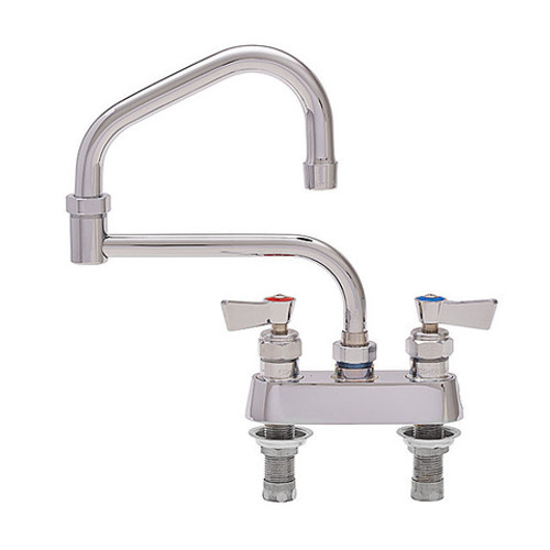 """Fisher 53805 6"""" Swing Spout Stainless Steel Deck Mount Faucet"""