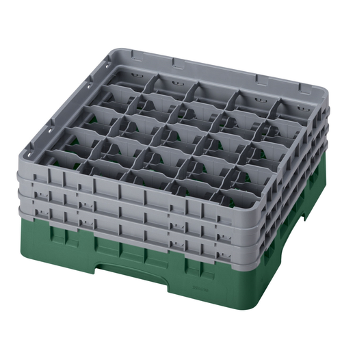 Cambro 25S638119 Camrack Glass Rack With (3) Soft Gray Extenders