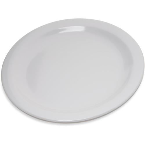 """Carlisle 4350302  7-1/5""""  Plastic  White  Dallas Ware Salad Plate"""
