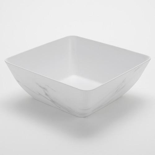 American Metalcraft MWMSQ11  232 oz  Plastic  White Marble Pattern  Square  Bowl