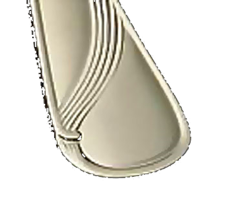 """Bon Chef S2201 6.31"""" 18/10 Stainless Steel Wave Bouillon Spoon"""