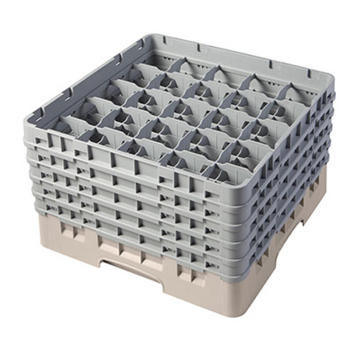 Cambro 25S958184 Camrack Glass Rack With (5) Soft Gray Extenders