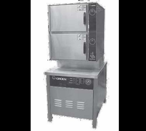 "Groen HY-10SG-36-NG 36"" Natural Gas Pressureless Steamer - 200,000 BTU"