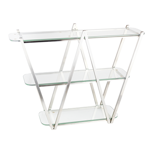"Eastern Tabletop AC1775 35""W x 11""D x 29-1/2""H 18/10 Stainless Steel Tabletop Display"