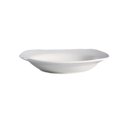 CAC China RCN-88  22 oz  Porcelain  Super White  Square  RCN Specialty Pasta Bowl