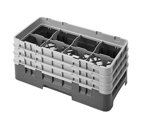 Cambro 8HS638151 Camrack Glass Rack With (3) Soft Gray Extenders