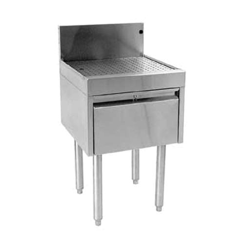 """Glastender DBDB-24 Stainless Steel Underbar Drainboard Drawer Unit - 24""""W x 24""""D"""